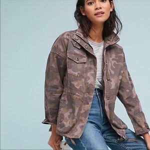 Anthropologie camo pink jacket